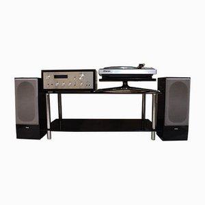 Conjunto de tocadiscos y amplificador Pioneer de ESB para Pioneer para Jvc, años 70. Juego de 6