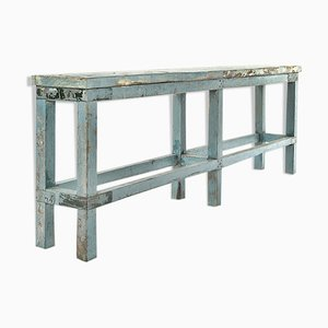 Patinated Wooden Console Table, 1940s