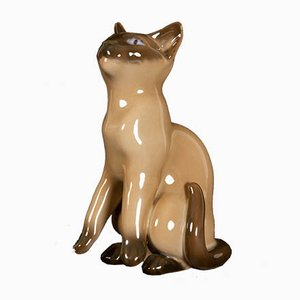 Mid-Century Porcelain Siamese Cat Figurine by Svend Jespersen for Bing & Grondahl