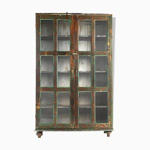 Wooden Glass Cabinet, 1940s