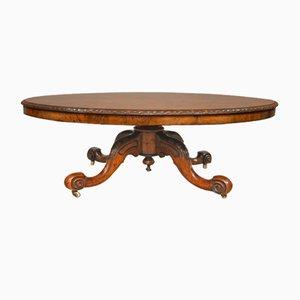 Tavolino da caffè vittoriano antico in noce