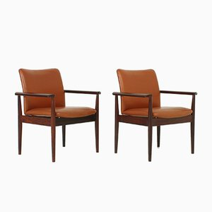 Rosewood Armchairs by Finn Juhl for Cado, 1963, Set of 2