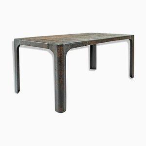 Mesa de comedor de hierro fundido, años 40
