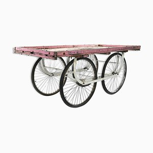 Patinated Wooden Cart, 1940s