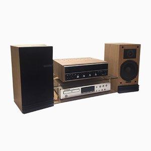 HiFi con amplificador de estado sólido, soporte de amplificador y reproductor de CD de Scott, Marantz & Epicure para Scott. Juego de 5