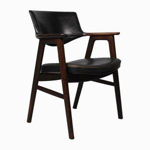 Schreibtischstuhl aus Palisander von Erik Kirkegaard für Høng Stolefabrik, 1950er