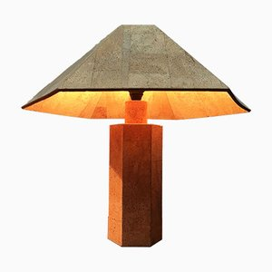 Vintage Cork Table Lamp by Ingo Maurer for Design M