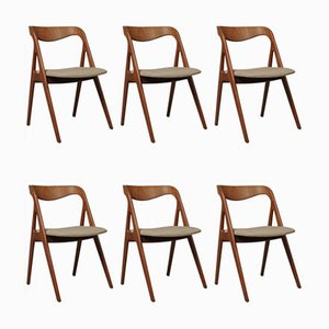 Mid-Century Dining Chairs by Johannes Andersen for Vamø, Set of 6