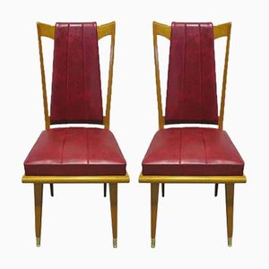 Art Deco French Side Chairs, 1940s, Set of 2