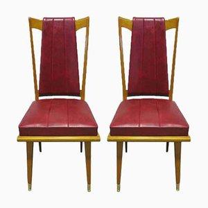 Französische Art Déco Beistellstühle, 1940er, 2er Set