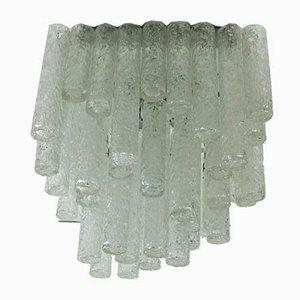 Deckenlampe aus Eisglas von Doria Leuchten, 1960er