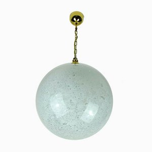 Mid-Century Bubble Glass & Brass Ceiling Lamp from Doria Leuchten