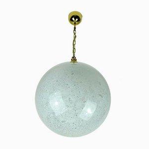 Mid-Century Deckenlampe aus Sideglas & Messing von Doria Leuchten