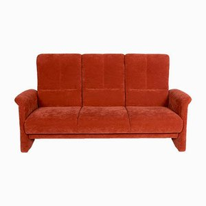 Vintage Orange Sofa, Armchair, and Footstool Set from Himolla
