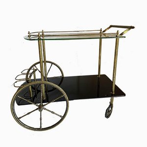 Vintage Brass Serving Trolley, 1960s