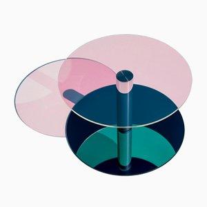 Dia Couchtisch aus Glas & Stahl von Sebastian Scherer