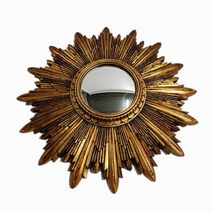 Gilded Resin Sunburst Mirror, 1960s