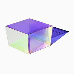 Glass Rho Square 35 Coffee Table by Sebastian Scherer