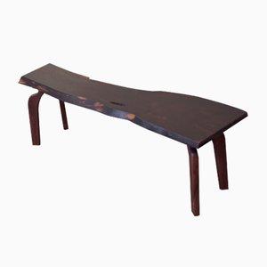 Signierter Tisch aus Nussholz von Jörg Pietschmann