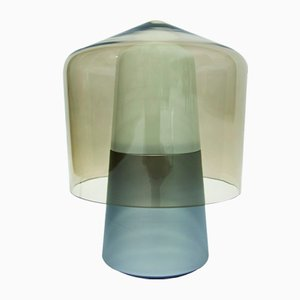 Steel and Glass Tip Top Table Lamp by Jonah Takagi