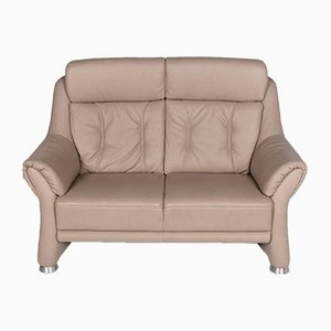 Vintage Beige Leather Model Planopoly 2-Seater Sofa from Himolla