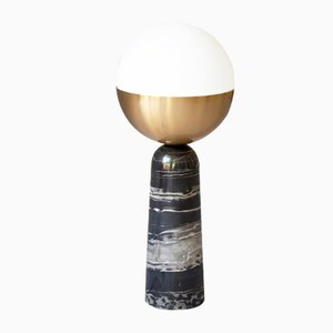 Brass Globe Table Lamp by Square In Circle