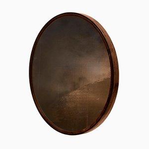 Espejo Porthole esculpido a mano de Nicholas Hamilton Holmes