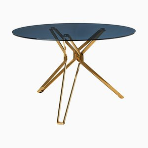 Modern Glass Round Table by Pols Potten Studio