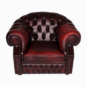 Vintage Red Leather Armchair from Centurion
