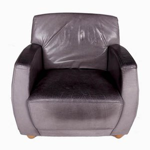 Vintage Gray Leather Model Dio Armchair from Cor