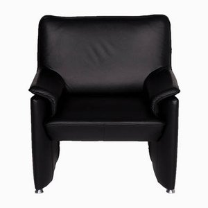 Vintage Black Leather Armchair from Laauser