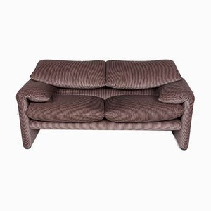 Vintage Beige Model Maralunga 2-Seater Sofa from Cassina