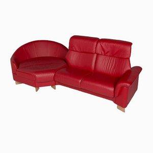 Rote Vintage Wohnzimmergarnitur aus Leder von Stressless