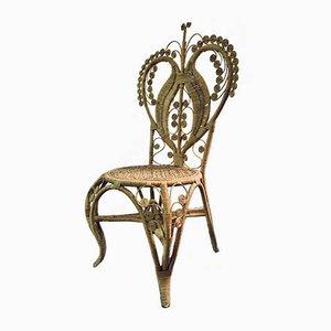 Stuhl aus Rohrgeflecht von Pons Leyva, 1960er