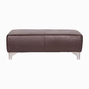 Vintage Brown Leather Ottoman from Koinor