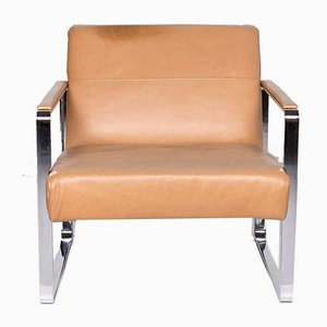 Vintage Beige Leather Model Ross Armchair from BoConcept