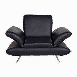 Vintage Dark Blue Leather Model Rossini Armchair from Koinor