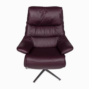 Vintage Purple Leather Armchair from Himolla