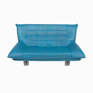 Vintage Blue Leather Sofas from Rolf Benz, Set of 2