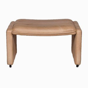Vintage Beige Leather Footstool from de Sede