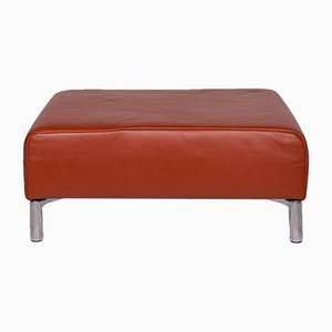 Vintage Brown Leather Ottoman by Koinor