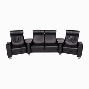 Vintage Black Leather Model Arion 4-Seater Sofa from Stressless