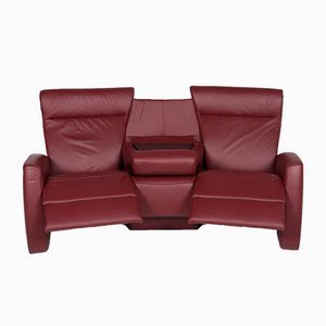 Vintage Red Leather 3-Seater Sofa from Himolla