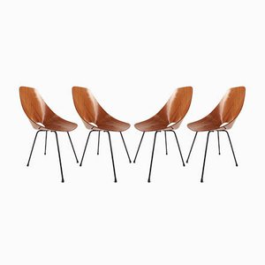 Model Medea Rosewood Dining Chairs by Vittorio Nobili for Fratelli Tagliabue, 1954, Set of 4