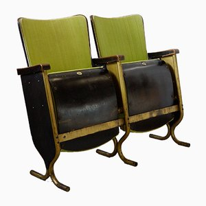 Art Deco Cinema Bench from Fibrocit, 1930s