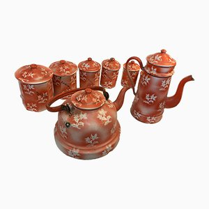 Spice Pots, Kettle & Coffee Maker Set, 1960s, Set of 7