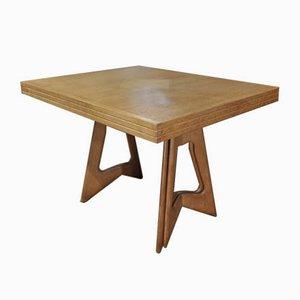 Mesa de comedor de roble de Guillerme et Chambron para Votre Maison, años 50