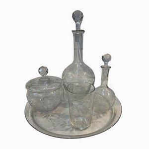 Service à Vaisselle Antique en Verre, Set de 5
