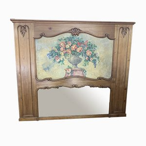 Antique Cherry Trumeau Mirror