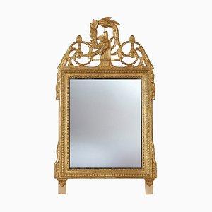 Spiegel mit handgeschnitztem Rahmen, 1970er